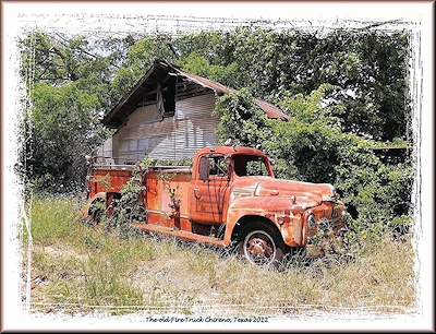 The Old Fire Truck at Chireno, Texas in Historic Nacogdoches County