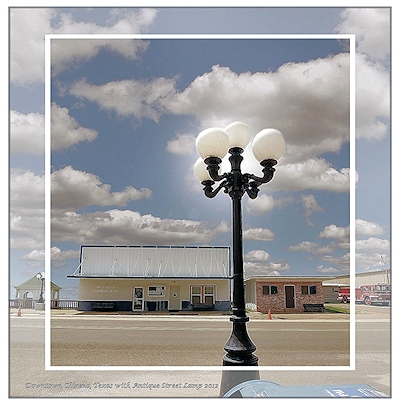 Antique Street Lamp in Chireno, Texas in Historic Nacogdoches County