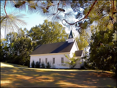 The Old Baptist Church of Chireno, Texas in Historic Nacogdoches County